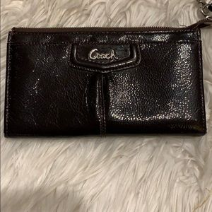 Authentic Coach wallet with wristband